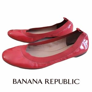 Banana Republic Patent Leather Coral Ballerinas